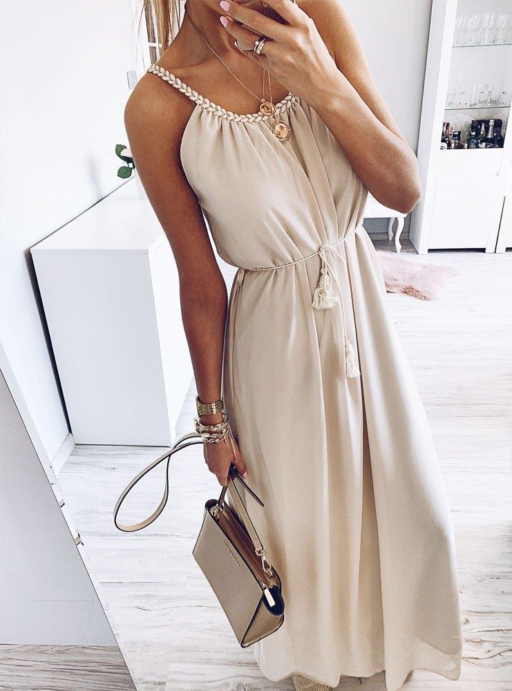 6090d576a Sukienka maxi w stylu greckim karista - cena, opinie | sklep ...