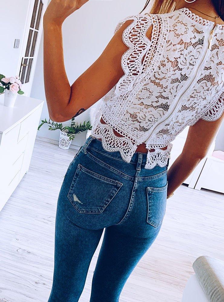 a27519aebb9571 Koronkowa biała bluzka marije - cena, opinie | sklep internetowy Pakuten