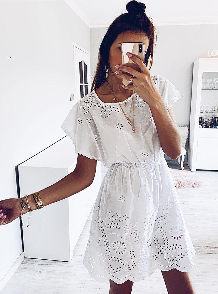 cd0cfc3f9b0 Biała sukienka boho kylah - cena, opinie   sklep internetowy Pakuten