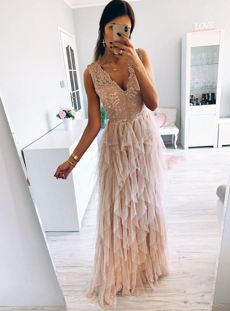 Długa sukienka sofia cena, opinie | sklep internetowy Pakuten