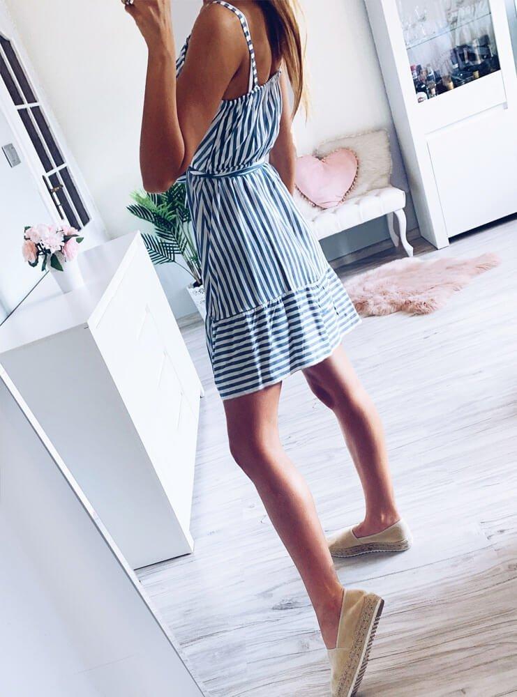 81bdafc0e6913f Sukienka w paski na ramiączkach aprille - cena, opinie | sklep ...
