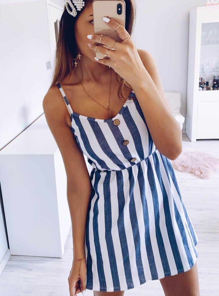 ab10f699f2b73f Sukienka w paski na ramiączkach inis - cena, opinie | sklep ...