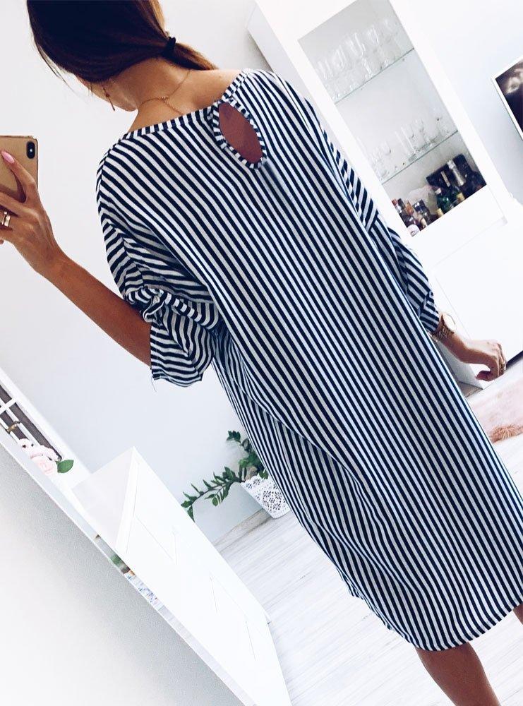 98fb98dc Oversizowa asymetryczna sukienka w paski sherida - cena, opinie ...